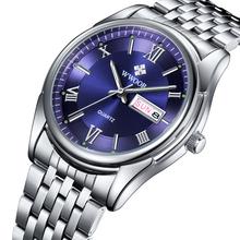 2015 nuovi uomini di marca orologio data giorno acciaio relojes luminoso ore orologio dress men casual orologio al quarzo sport orologio da polso(China (Mainland))