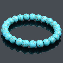 19 Styles Elastic Natural Stone Bracelet & Bangle With White Howlite Malachite Lava Turquoise Buddha Beads Bracelets Tiger Eye(China (Mainland))