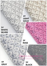 10PCS--NEW STYLE! 20X22CM High Quality DIY PU Lace Glittle leather synthetic leather  per pcs (5 colors can choose)(China (Mainland))