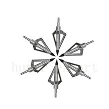 18pcs archery arrow arrowhead 100 grain fiberglass arrow broadhead 3 blades screwing on carbon arrow for