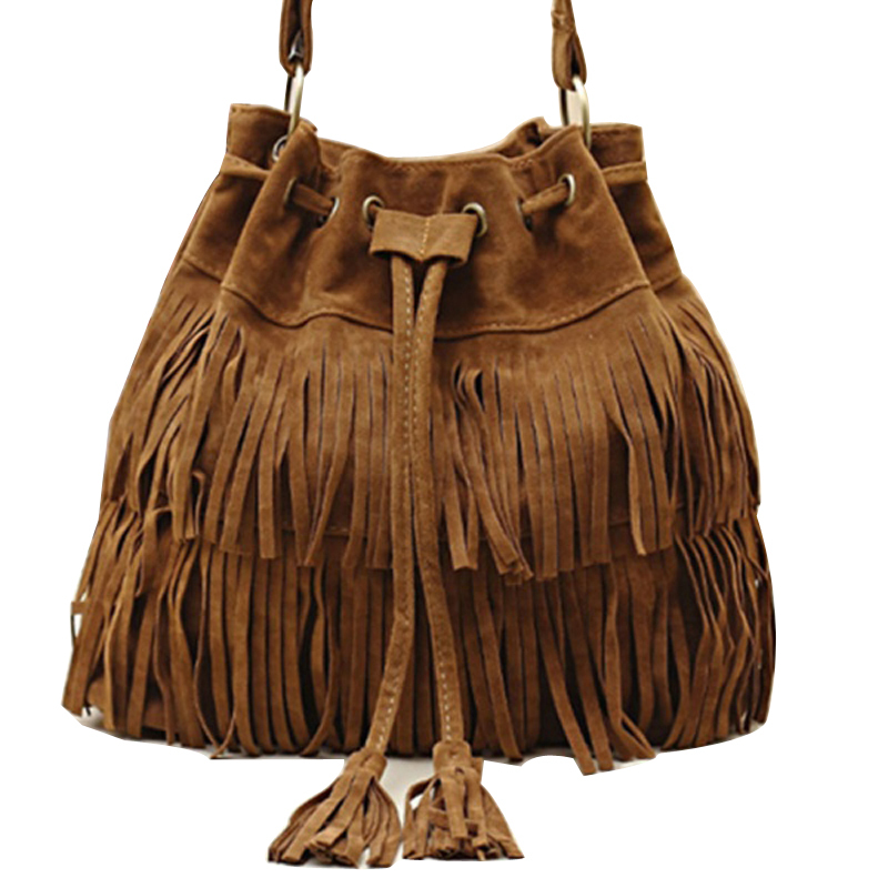 Women Handbag Popular Faux Suede Fringe Tassel Shoulder Messenger Bag New Fashion Handbags