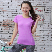 Women s Professional Fitness Sports Quick drying Perspicuousness Short sleeve Exercise Clothes T shirt Running Camiseta
