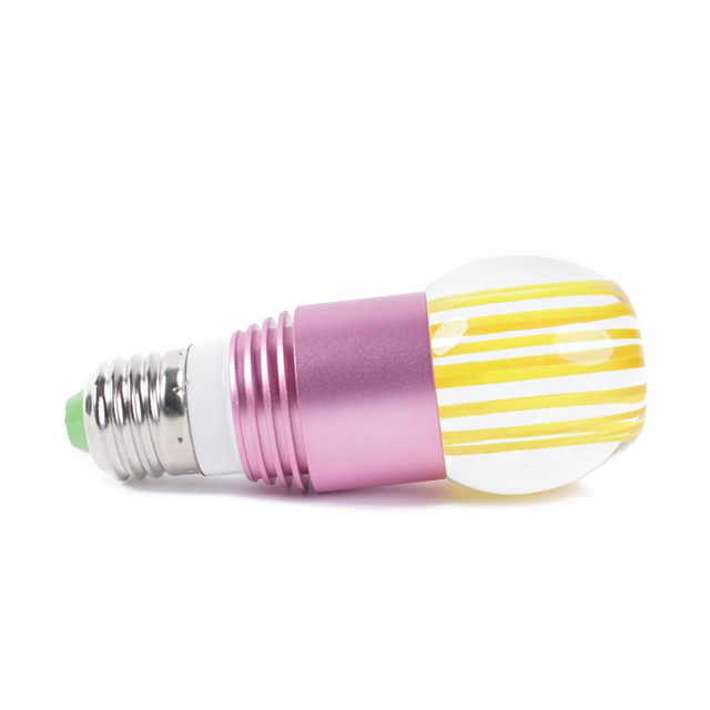 E27 3W 200 Lumen RGB Remote Control LED Lamp Apple Head ,for shop/Windows/hotels/restaurants/Hall/museums/offices