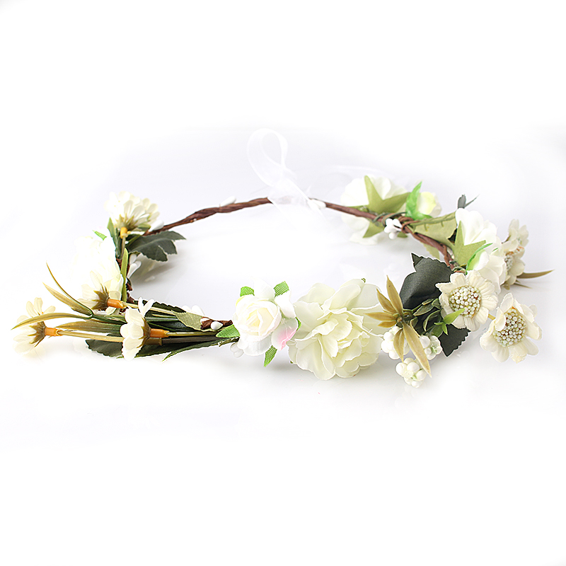 M MISM New arrive carnations Flower Headband Bridal Floral Crown Hair Wreath Mint head wreath wedding accessories headpiece(China (Mainland))
