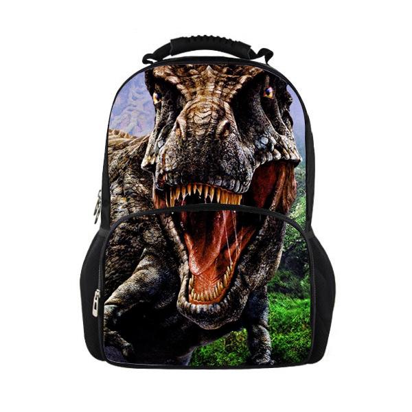 Hot jurassic park 3d dinosaur women backpack zoo animal men back pack tiger lion leopard mochila maculina casual travel bag pack(China (Mainland))