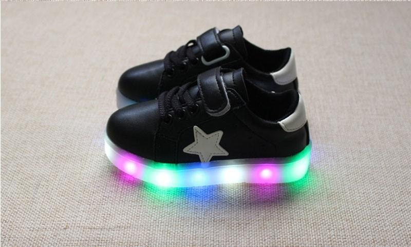 Işık 2016 ile çocuk ayakkabı bebek kız ayakkabı chaussure led parlayan enfant çocuk nefes erkek sneakers tenis sneakers