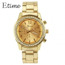 2015 Rose Gold Watch Women Luxury Brand Geneva Ladies Wristwatches Gifts For Girl Full Stainless Steel Rhinestone Quartz Watch58