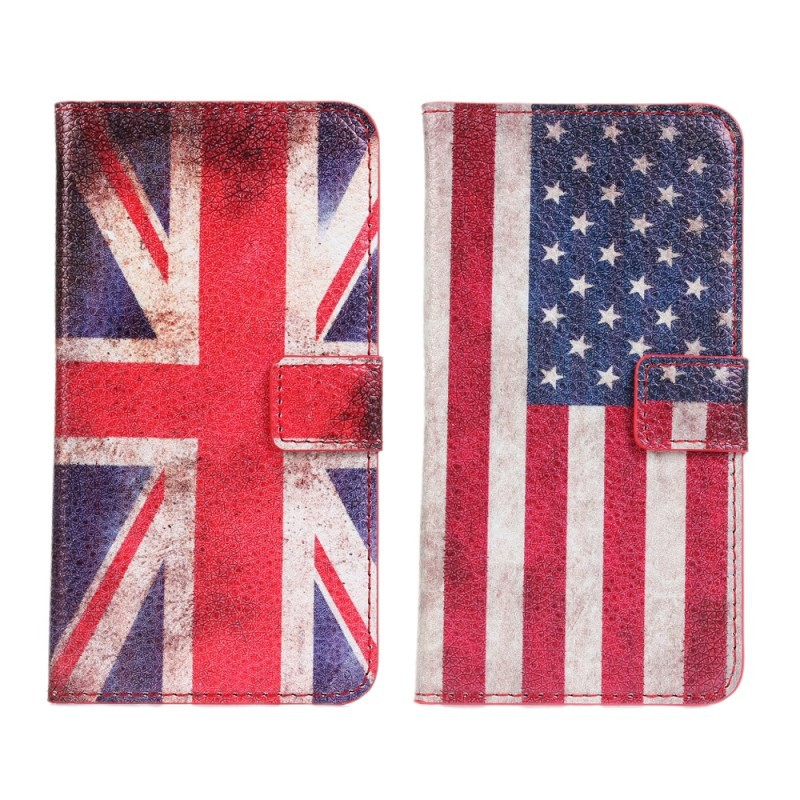 10pcs/lot free shipping New Wholesale flip retro UK and USA flag leather standing case for LG Optimus G2 D802 F320(China (Mainland))