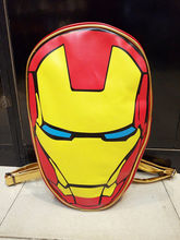 The Iron Man Comics Avengers Kid's Leather Backpack School Travel Book Bag New(China (Mainland))