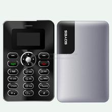 SOYES J1 Russian German French Spanish Bluetooth Dialer 4.8mm Ultrathin Metol Body FM Mini Size Card  Phone P396