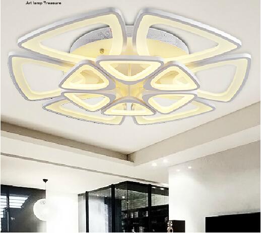 White Led Ceiling Light Fixture Led Ring Lustre Light Large Flush Mounted Led Dining Sitting