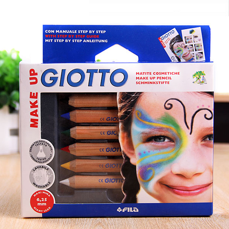 6 Colors/Set Natural Skin Body Crayon Drawing Colored Pen Children DIY Design Paint Pen Art Supplies(China (Mainland))