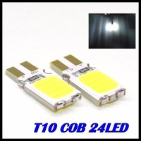 10pcs/lot x T10 194 168 W5W 24led t10 cob led white 5W High Power LED Car Door Lamps Indicator Light Reading Light  Bulbs White