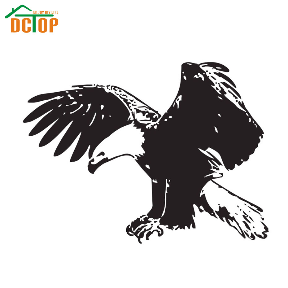 Most Popular Animal Birds Wall Decal Vinyl Removable Flying Eagle Wall Stickers Living Room Sofa Background Home Decor(China (Mainland))