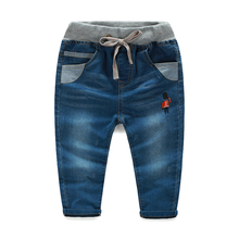 Baby jeans male 2016 spring fashion male children's child clothing child denim long trousers thin kz-7128