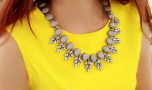2014 new fashion retro necklaces women choker  jewelry rhinestone necklace wholesale(China (Mainland))