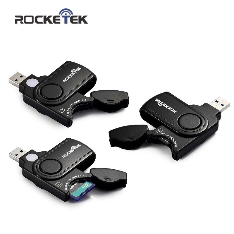 Rocketek USB 3.0 Memory Card Reader, 2 Slots Card Reader for SD Card, TF, micro SD Cards and USB free shipping(China (Mainland))