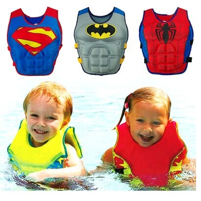 LittleSpring Retail Children Swim Vest(Buoy Vest) Boy girl Batman superman spiderman Swim Ring Float Clothes Swimming Clothing(China (Mainland))