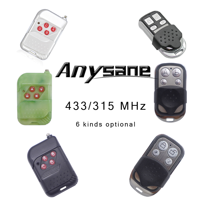 6 kinds 4-CH ASK RF remote control,Copy code,Rolling code,Fixed code optional remote,433MHz/315MHz controller(China (Mainland))
