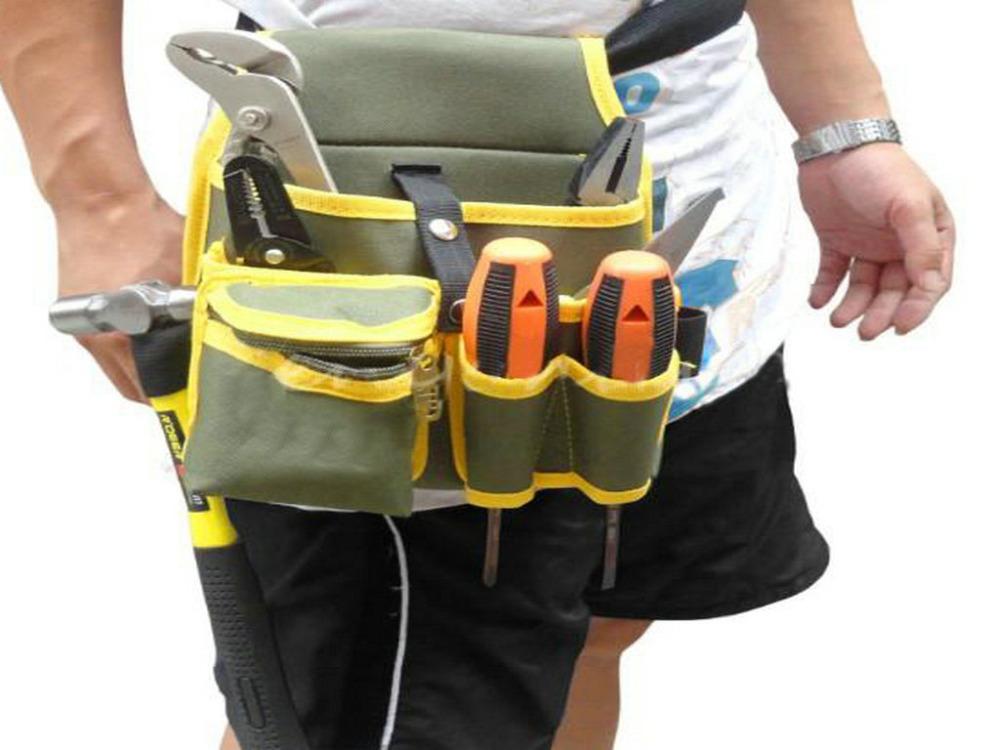 Hardware Mechanics Electrician Canvas Tool Bag Utility Pocket Pouch Bag <br><br>Aliexpress