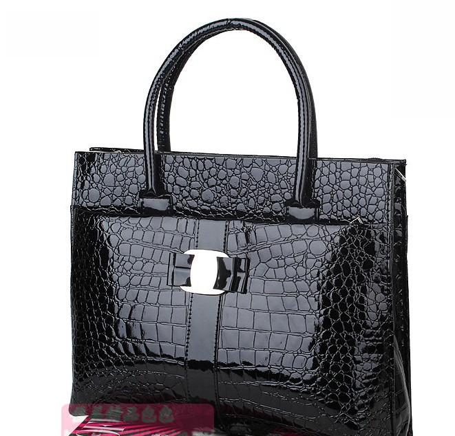 B503010W. Brand new Fake Crocodile women shoulder bag Retro Pack women handbag PU leather  high quality tote bags,free shipping(China (Mainland))