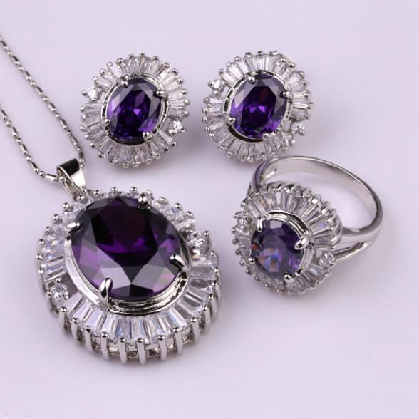 S3-0005A, Charming wholesale wedding jewelry set crystal bridal gifts choker necklace+earrings/ring  for lady/women<br><br>Aliexpress
