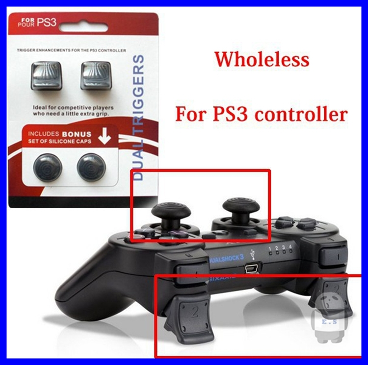 For Sony PS3 Playstation 3 Game Controller Dual Triggers Enhancements for Dualshock 3 Silicone Protective Caps Game Accessories(China (Mainland))