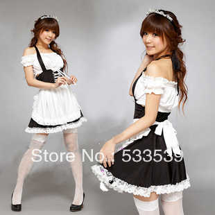 Classic Halloween Costume Maid Outfit Lady Women Uniform Popular Cosplay Performance Wear Christmas Installation - 4yourbestpartner Online Market store