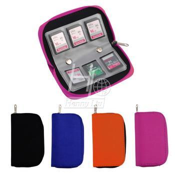 4 цветов SD SDHC MMC CF микро-жесткий карт памяти для хранения сумка Box чехол держатель протектор бумажник