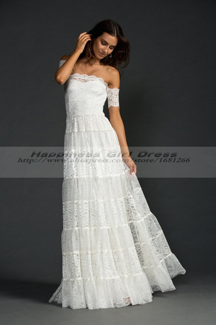 Bohemian style wedding dress boho hippie wedding dresses Hippie vintage wedding dresses