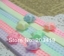 Buy 30pcs/bag glow dark lucky star Origami folding strip paper heart DIY gift decor card craft lover wedding etc CN post for $8.19 in AliExpress store
