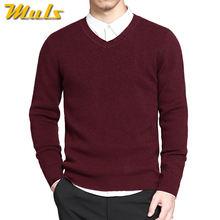 2019 mens pullovers 스웨터 기본 스타일 v 넥 스웨터 코튼 니트 점퍼 솔리드 남성 니트웨어 네이비 레드 블랙 플러스 사이즈 4xl(China)
