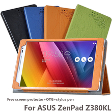 4in1 Luxury Drop resistance Flip Cover For ASUS ZenPad 8.0 Z380KL 8inch Tablet Protective Shell Stand PU Leather Flip Case