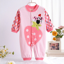Baby Clothes Spring and Autumn and Winter Newborn Cotton Long-Sleeved Onesie Rompers