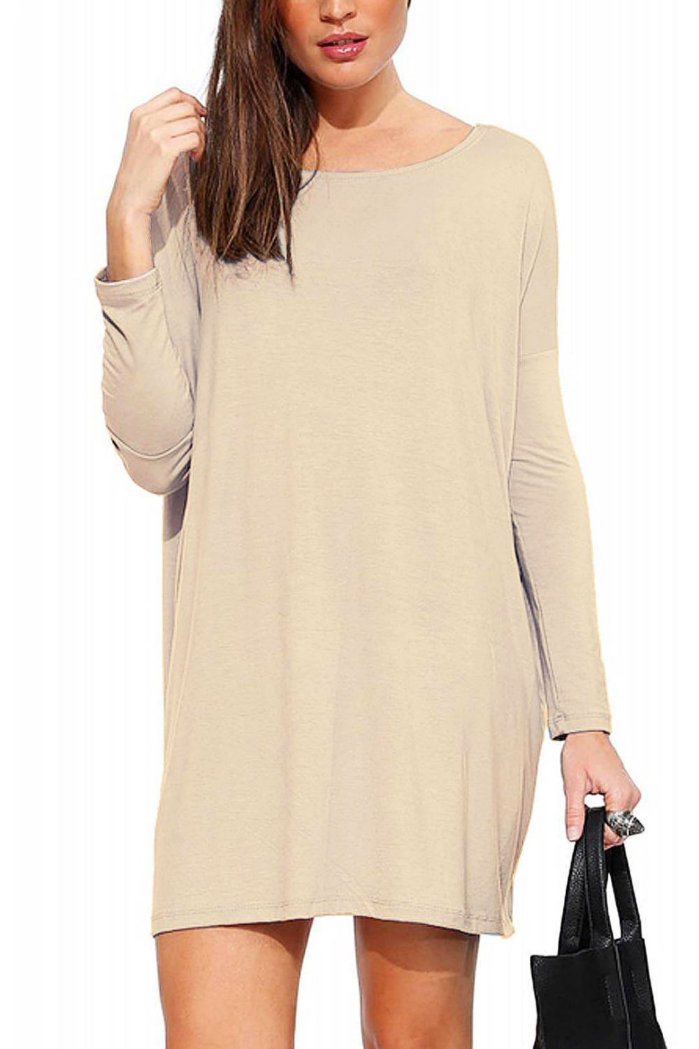 Casual Dresses Women Long Sleeve Shift Dress(China (Mainland))
