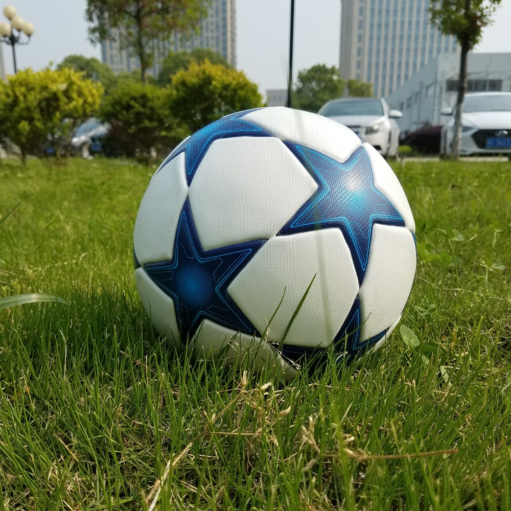 2017 High quality Champions League Official size 5 Football ball material PU Professional competition train durable soccer ball(China (Mainland))