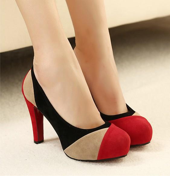 Гаджет  Wholesale Low Price New 2014 Fashion Women Pumps Noble Shoes Thin Super High Heels Platforms Vogue Blue Red Multicolor Shoes 0 None Обувь