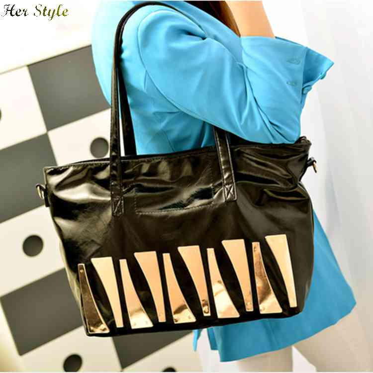 Free Shipping oil in 2015 spring stylish women blades diagonal shoulder bag handbag purse 1432914037(China (Mainland))
