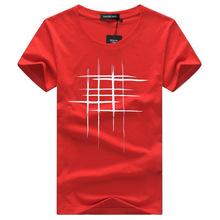 SWENEARO Homens Camisetas de Verão de Manga Curta camisa de t dos homens Simples design criativo linha cruz impressão de algodão t-shirt Dos Homens Da Marca(China)
