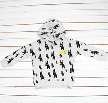 2015 New Spring Autumn kids Sweatshirts Hoodies ,100%Cotton high quality,Cute Animal printed Crew Neck for Wholesale&Retail(China (Mainland))