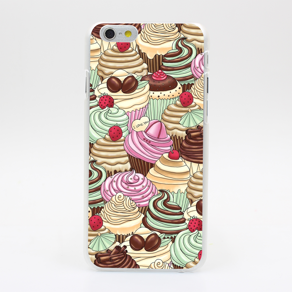 2243U Cupcakes Art Hard Case Cover for iPhone 7 7 Plus 4 4s 5 5s SE 5C 6 6s Plus Skin Back(China (Mainland))