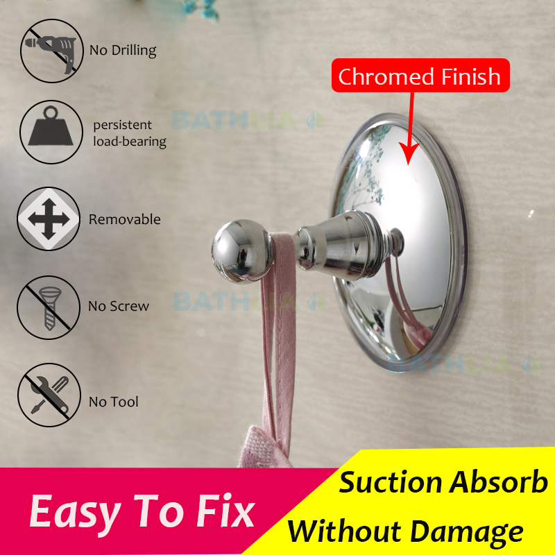 2pcs bathroom kitchen strong suction hook adhesive wall hook waterproof made of eco friendly abs material for towel