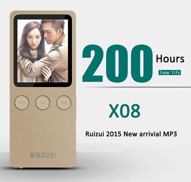 "2015 Latest 1.8"" RUIZU X08 MP3 Player Ultrathin 8GB Hifi Lossless 200 Hours with FM clock(China (Mainland))"