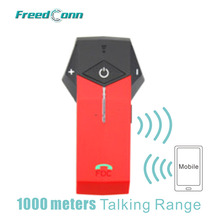 Free Shipping!!Red FreedConn 1000M COLO Motorcycle Motorbike Helmet Bluetooth Intercom Headset Support NFC Tech