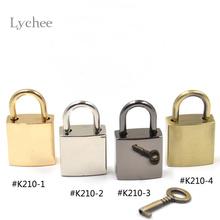 1 Piece New Arrival Padlock Pendant Love Square Lock Charm Shiny Color With Keys(China (Mainland))