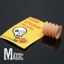 Neck Cracker Gimmick by Alan Wong /  close-up coin Magic Trick A coin through glass cup with no any cover