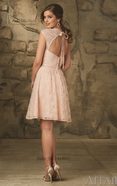 Lace Knee Length Wedding Dresses 84 Luxury Modest brown bridesmaid dresses