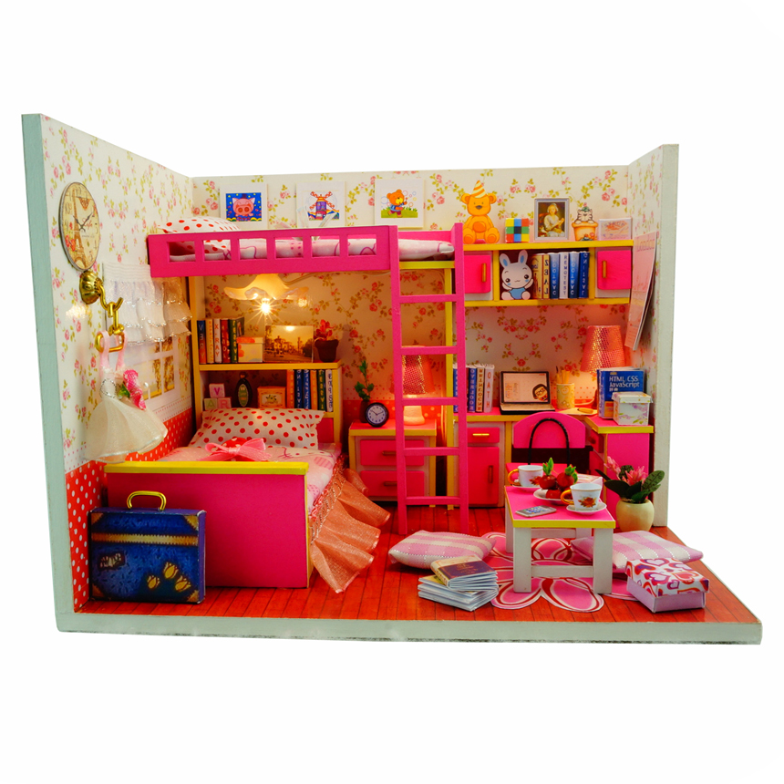 Wooden doll house furniture material build finish for Best material to build a house