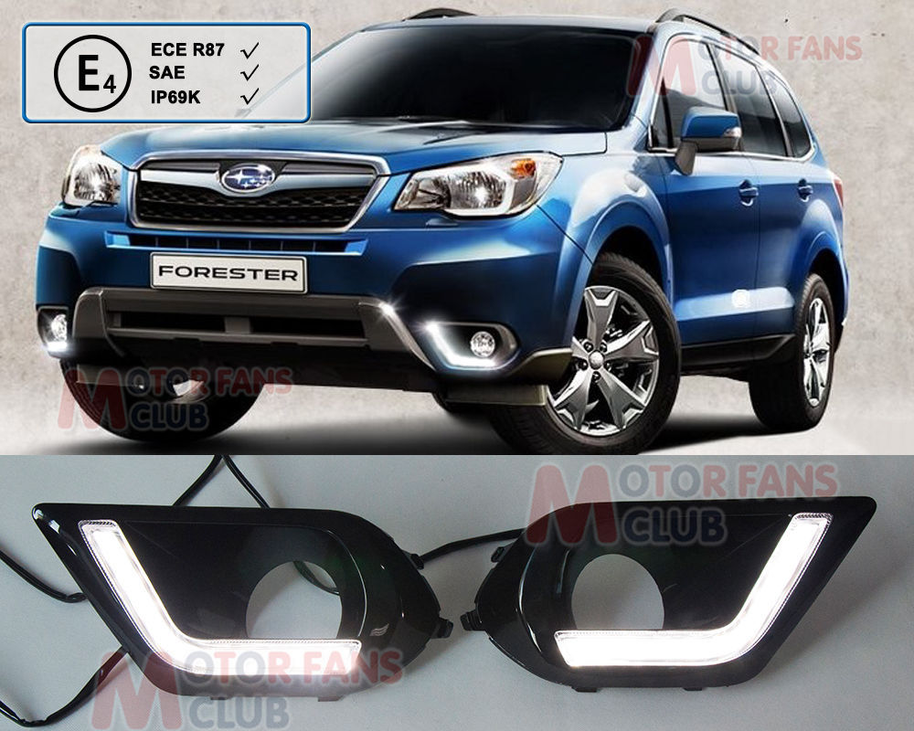 LED Daytime Running Light For Subaru Forester Car Driving Fog Lamp DRL 2013 2014 for free shipping<br>