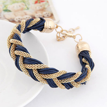 3 colors Korean Fashion Elegant ladies Simple wild metal chain rope preparation Bracelets Accessories  for women 2014(China (Mainland))
